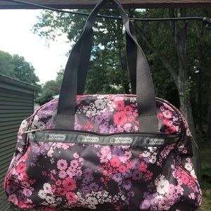 LeSportsac small duffel. Perfect! Flower design